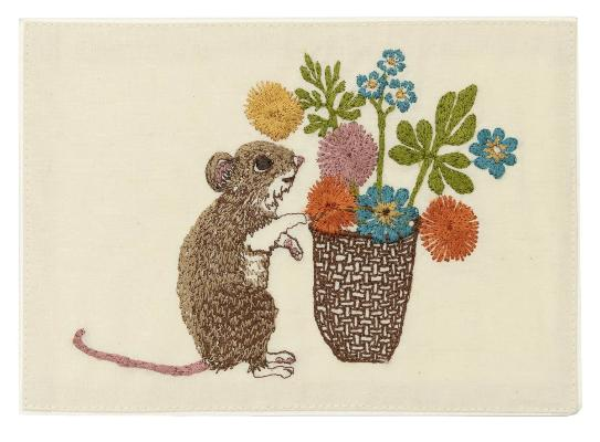 Coral & Tusk - Mouse with Flowers Card