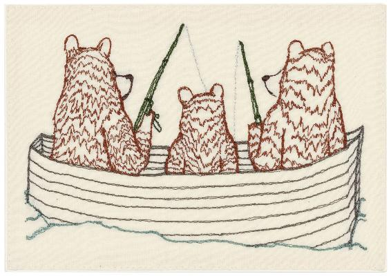 Coral & Tusk - Bear Family Fishing Card