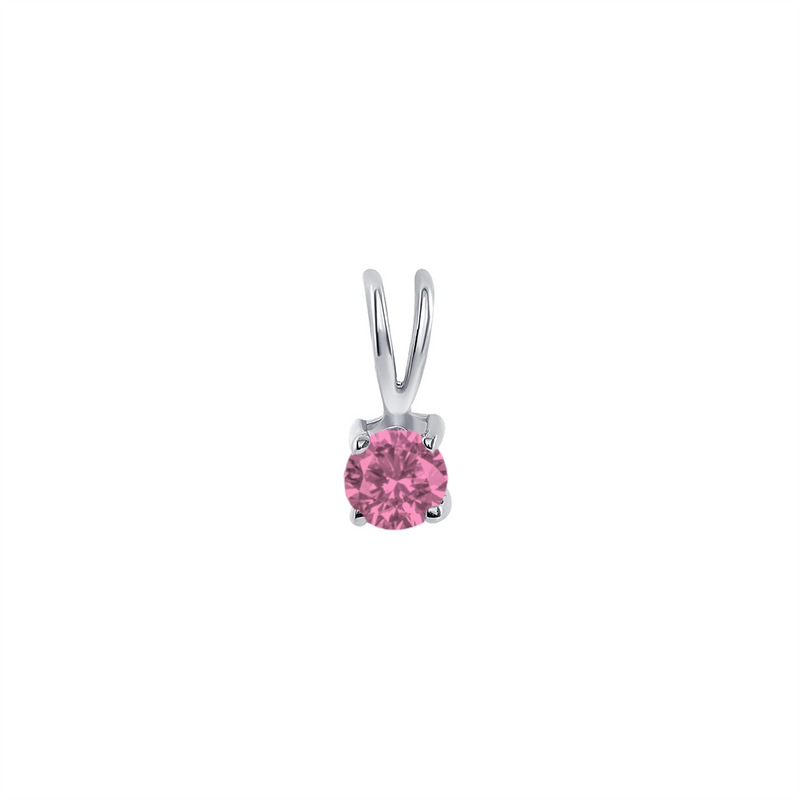 Dainty Tourmaline Gemstone Rabbit Ear Pendant Necklace