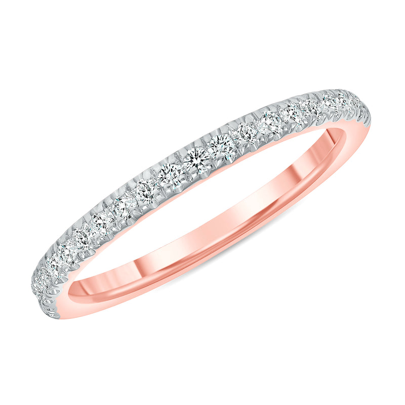 Dainty Diamond Band Ring in Rose Gold