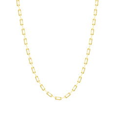 Layering Link Chain Necklace in Solid Gold
