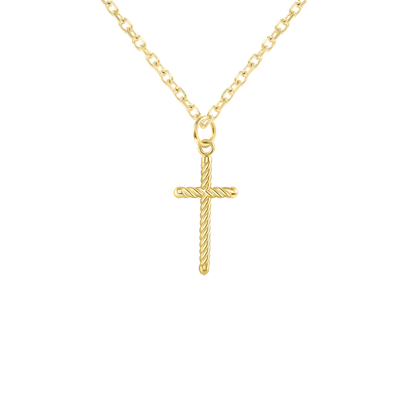 gold rope chain with cross