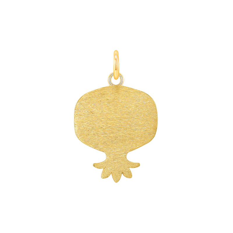Dainty Armenian Pomegranate Pendant Necklace in 14k Yellow Gold (LG/SM)