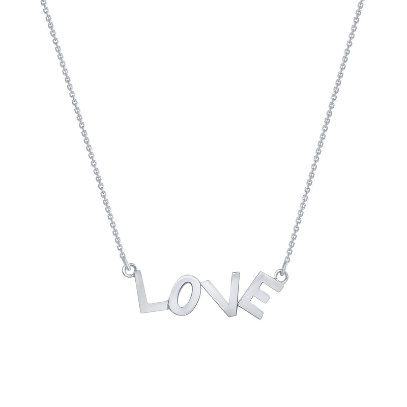 Dainty 'LOVE' Necklace In Solid Gold