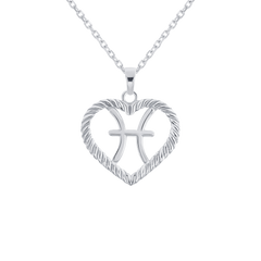 Pisces Zodiac Pendant/Necklace in Sterling Silver