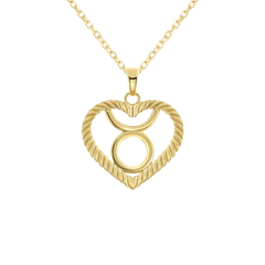Taurus Zodiac Pendant/Necklace in Solid Gold