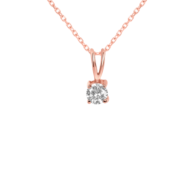Dainty Diamond Gemstone Rabbit Ear Pendant Necklace