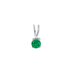 Dainty Emerald Gemstone Rabbit Ear Pendant Necklace