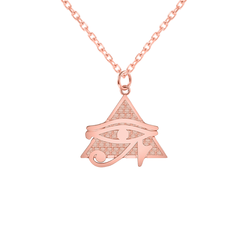 Eye of Horus Pendant/Necklace in Solid Gold