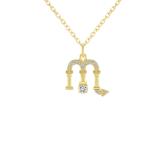 Scorpio Zodiac Diamond Pendant/Necklace in Solid Gold