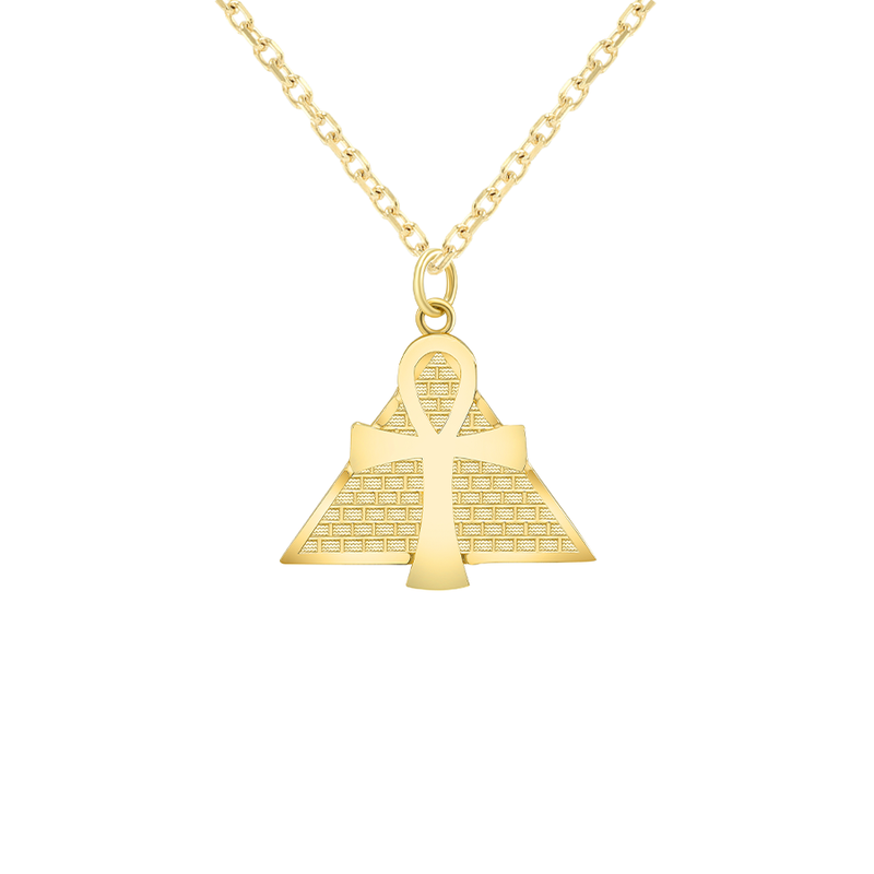 Ankh Pendant/Necklace in Solid Gold