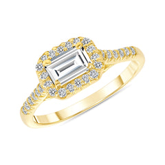 Emerald Cut Statement Ring in Yellow Gold