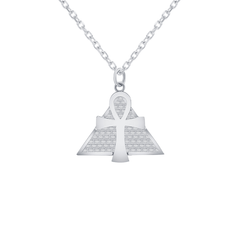 Ankh Pendant/Necklace in Sterling Silver