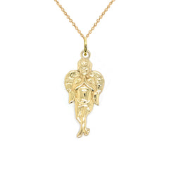 Guardian Angel Pendant Necklace in Gold