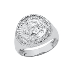 Cancer Astrological Zodiac Unisex Statement Ring In Sterling Silver