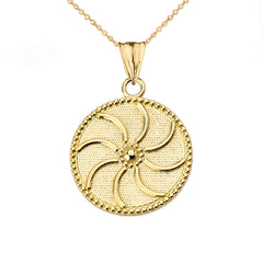 Dainty Armenian Eternity Pendant Necklace In 14k Yellow Gold