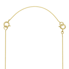 Necklace Chain Extender in Solid Gold