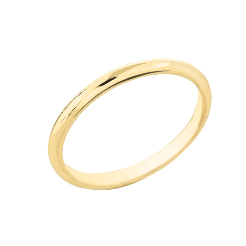 2mm Comfort Fit Classic Wedding Band in 10k Yellow Gold