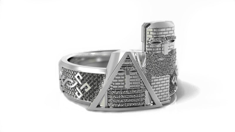 'We Are Our Mountains' Tatik & Papik Artsakh Armenia Oxidized Ring in Sterling Silver *LIMITED EDITION*