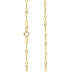 Cuban Necklace in Solid Gold (Medium Size)