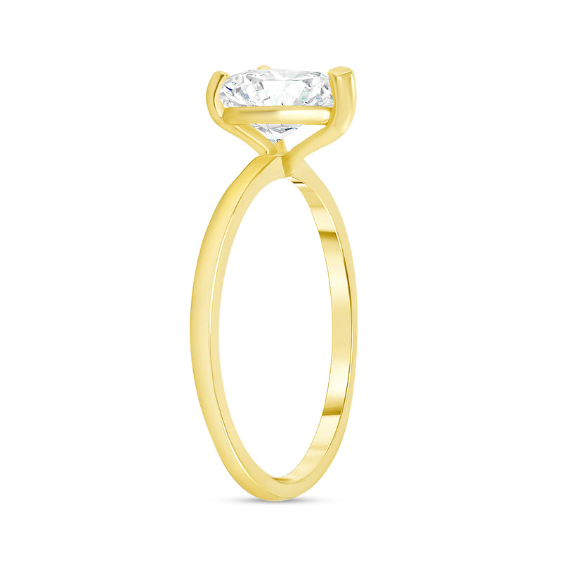 Heart Shaped CZ Engagement Ring in Solid Gold
