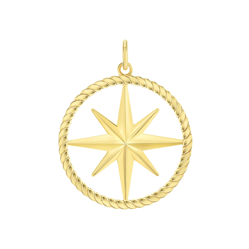 North Star Pendant/Necklace in Solid Gold
