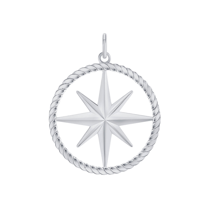 North Star Pendant/Necklace in Sterling Silver