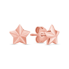 Dainty Star Earrings in Solid Gold