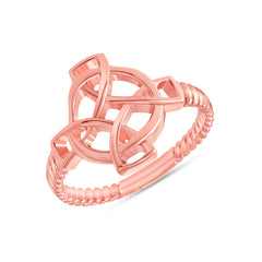 Celtic Rope Ring in Rose Gold