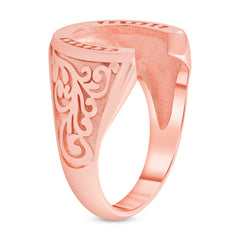 Horseshoe Statement Ring in Rose Gold