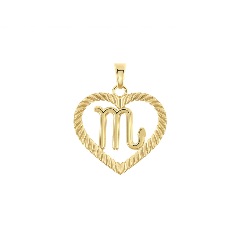Scorpio Zodiac Pendant/Necklace in Solid Gold