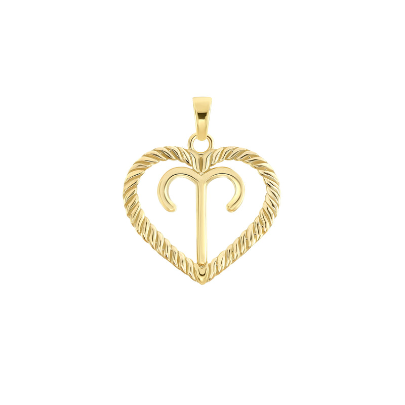 Aries Zodiac Pendant/Necklace in Solid Gold