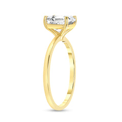 Asscher Cut CZ Engagement Ring in Solid Gold