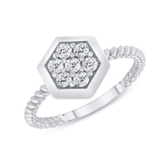 white gold rope ring