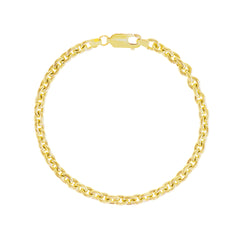 Unisex Cable Chain Bracelet In Solid Gold