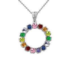 Circle of Pride -Statement Necklace In Sterling Silver