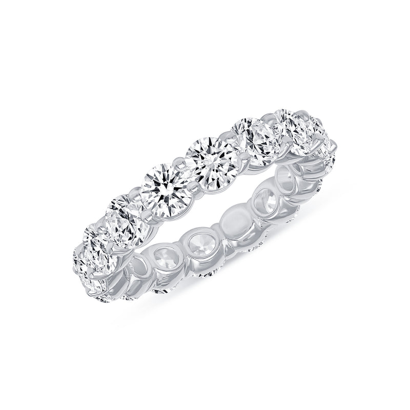 4.5 Ct Eternity Band In White Gold