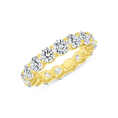 4.5 Ct Eternity Band In Yellow Gold