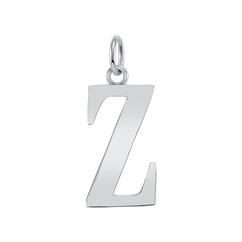 "Customizable Initial ""Z"" Pendant Necklace in Sterling Silver"
