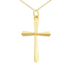 3D Unisex Large Cross Pendant/Necklace in Solid Gold