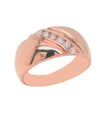 rose gold pink diamond wedding ring