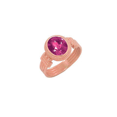 Milgrain Alexandrite Statement Ring in Solid Gold