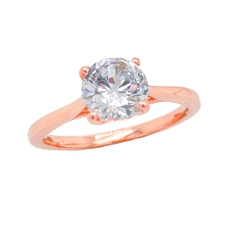 rose gold cubic zirconia engagement rings