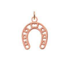 Dainty Horseshoe Pendant Necklace in Solid Gold