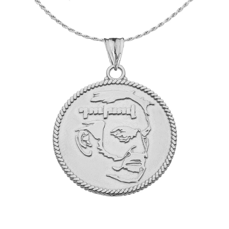 Two-sided Armenian Eternity and DUXOV Pendant Necklace in Sterling Silver