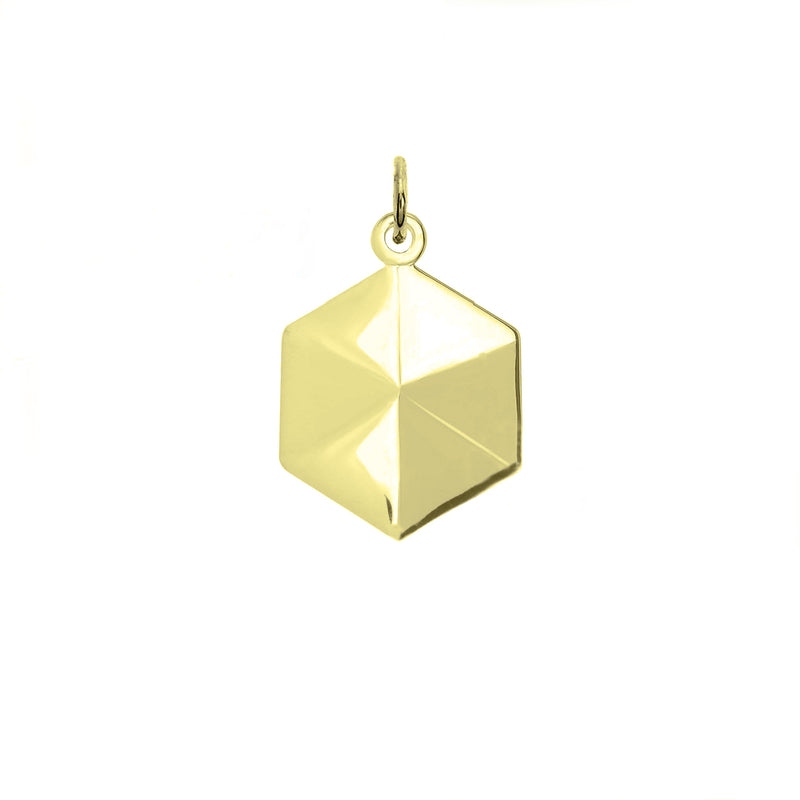 Honeycomb Cubic Zirconia Necklace/Pendant In Solid Gold