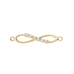 Dainty Diamond infinity Necklace in Solid Gold