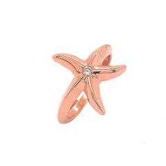 Starfish Statement Diamond Ring in Solid Rose Gold