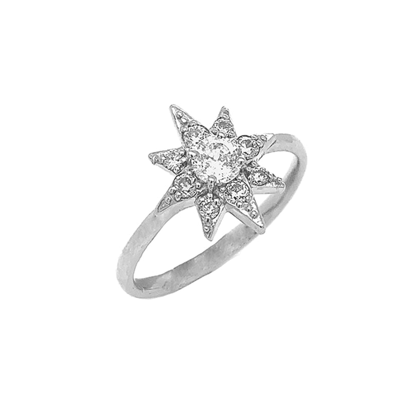 North Star White Topaz Ring in Sterling Silver