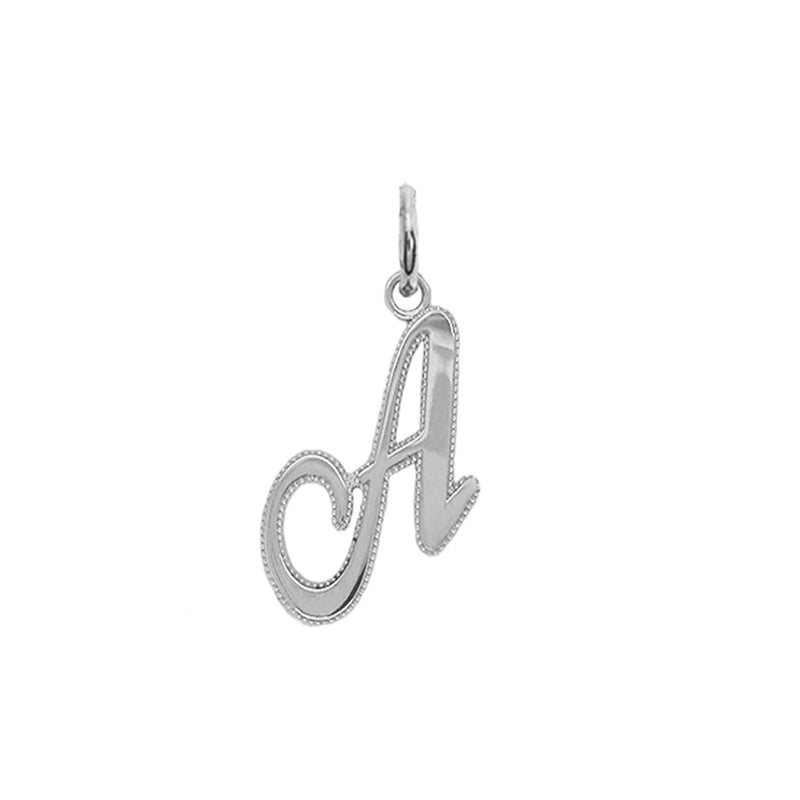 sterling silver letter a necklace